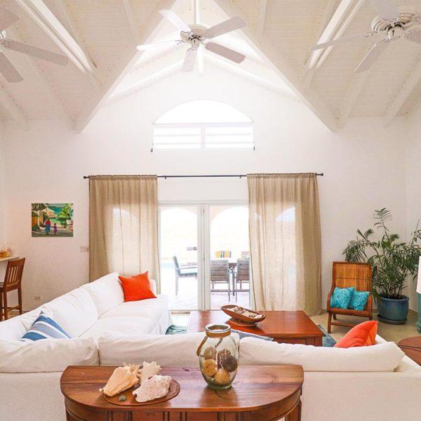 Salon Villa Arcadia à St-Martin