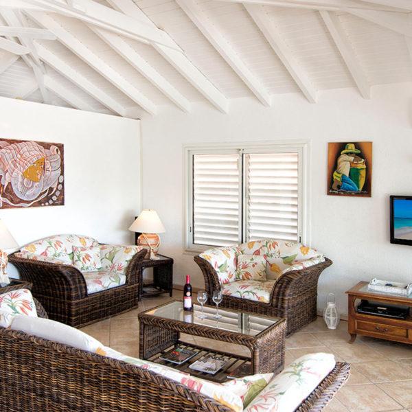 Salon Villa Coralita à St-Martin