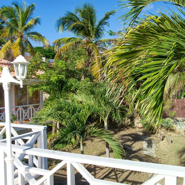 Entrée Villa Coralita à St-Martin